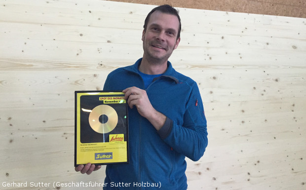 Sutter Holzbau – Spot des Monats November 2015!