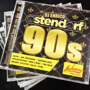 Jetzt neu: ANTENNE VORARLBERG 90s CD von Enrico Ostendorf! Die neuste Doppel-CD von DJ Enrico Ostendorf!