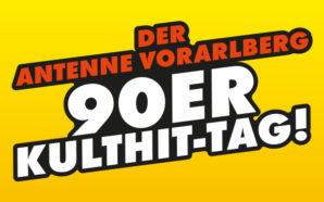 Der ANTENNE VORARLBERG – 90er-Kulthit-Tag! Wir spielen einen ganzen Tag die coolsten und genialsten 90er: Am Freitag, 22. September, ab 9 Uhr!