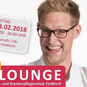 Die Infolounge am Freitag, 23. Februar 2018 in der Gesundheits- und Krankenpflegeschule in Feldkirch!