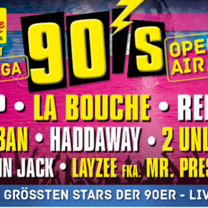 "ANTENNE VORARLBERG präsentiert das ""Mega 90er Open-Air"" am Freitag, 30. August 2019 auf der Seebühne in Bregenz!"