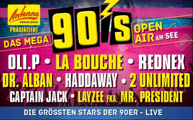 "ANTENNE VORARLBERG präsentiert das ""Mega 90er Open-Air"""