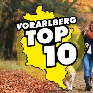 Die Vorarlberg TOP 10! Diese Woche suchen wir die TOP 10 der schönsten Herbstspaziergänge in Vorarlberg!