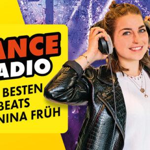Brandneu: Dance Radio mit Nina Früh! Die coolsten Dance Beats rundum die Uhr!