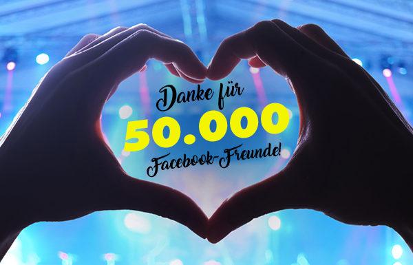 Danke für 50.000 Facebook-Freunde!