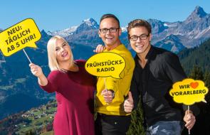 NEU ab 5 Uhr: Das ANTENNE VORARLBERG – Frühstücksradio!